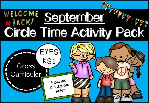 September Circle Time Activity Pack for EYFS/KS1 (Back to School Themed)