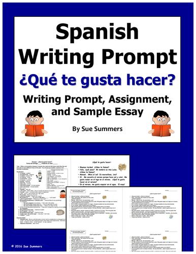 writing a spanish essay