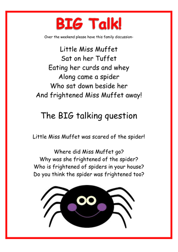 Speaking and Listening  Communication and Language Chitter Chatter homework ideas Reception EYFS