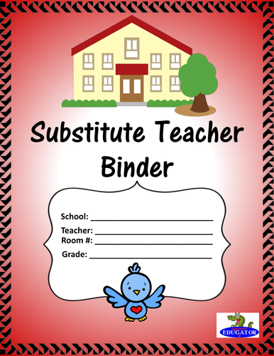 Substitute Binder or Teacher Folder