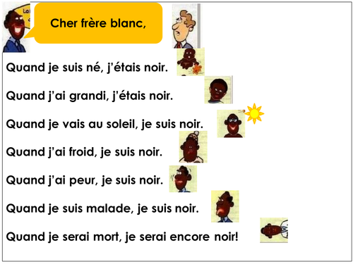 French poem tackling racism with simple language