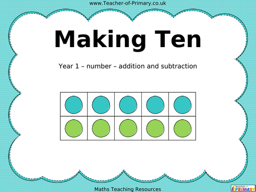 Printables Making Ten Worksheets martins teaching resources tes making ten powerpoint and worksheets