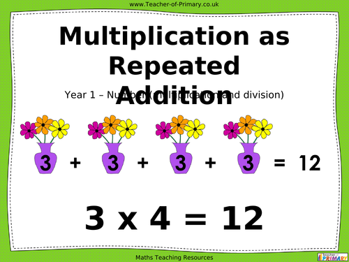 Repeated addition ppt by clarebear1981 Teaching Resources Tes – Repeated Addition Worksheets Ks1
