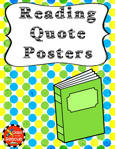 Printable Reading Quotes Classroom Posters