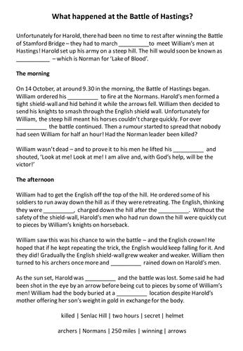 Hastings Worksheet