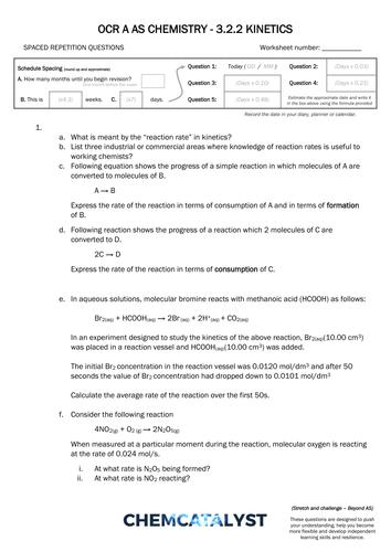 Chemistry: Reaction Kinetics Worksheets by greenAPL ...