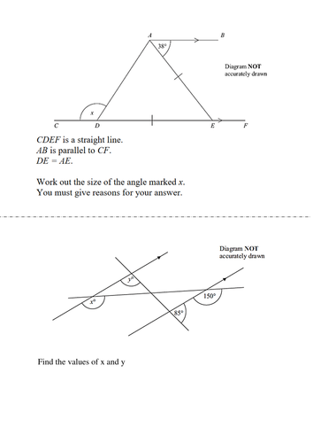 Gcse angles interior exterior and types of angles by - How to work out an exterior angle ...