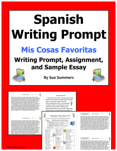 spanish 3 essay prompts Ap ® spanish language and culture 2014 free-response you will write a persuasive essay to submit to a spanish writing 2014 ap.