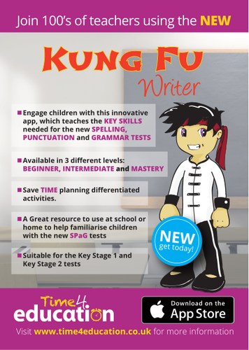 KUNG FY WRITER APP POSTERS