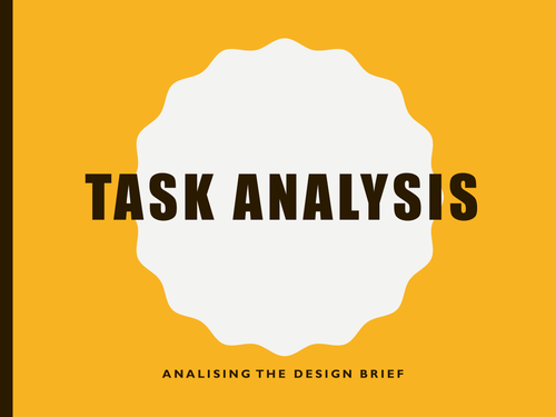GCSE D&T analysis of the task guide