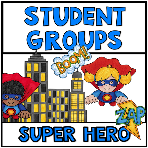 Partner Picking Student Grouping Super Hero Theme