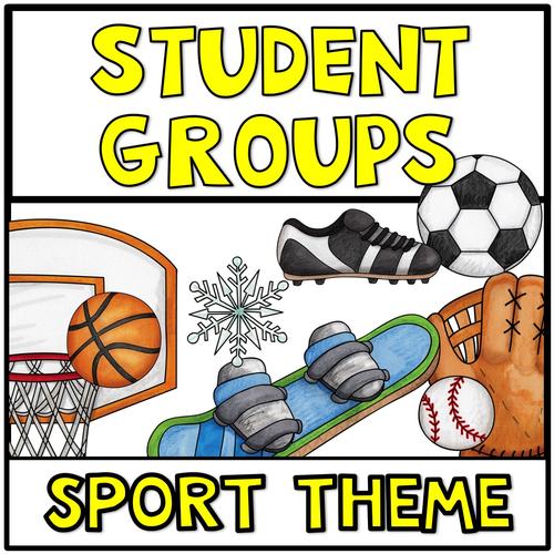 Partner Picking Student Pairs Sport Theme