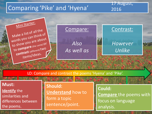 Poetry Comparison- Pike and Hyena