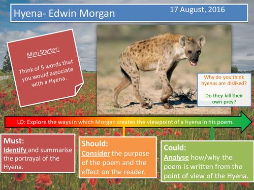 Hyena- Edwin Morgan