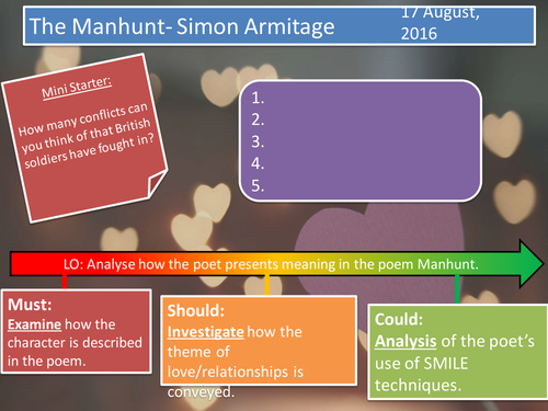 The Manhunt- Simon Armitage