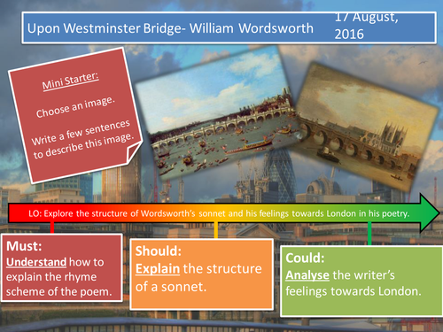 Upon Westminster Bridge- William Wordsworth