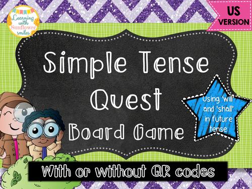 Simple Tense Board Game US VERSION