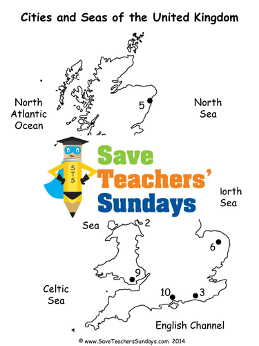 cities and seas of the uk ks1 lesson plan map worksheet and plenary by saveteacherssundays. Black Bedroom Furniture Sets. Home Design Ideas