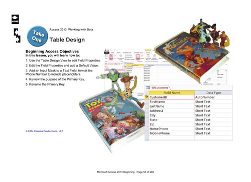 Microsoft Access 2013 Beginning: Table Design