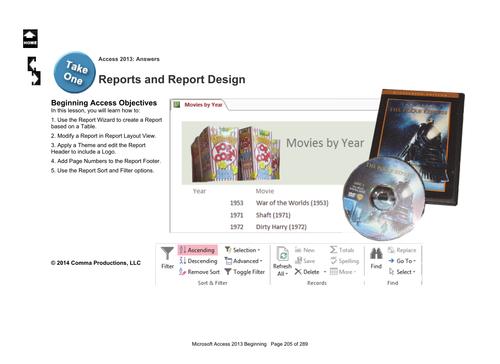 Microsoft Access 2013 Beginning: Report Designs