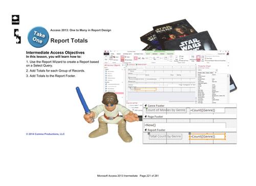 Microsoft Access 2013 Intermediate: Report 1 (Totals)