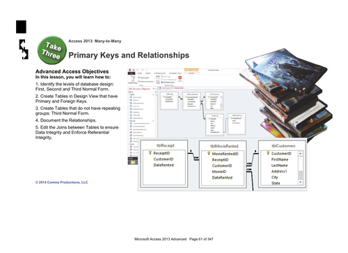 Microsoft Access 2013 Advanced: Tables 2-Primary Keys and Relationships
