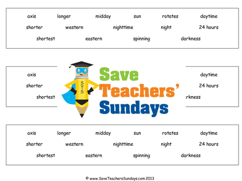 Day And Night Ks2 Lesson Plan And Worksheet By