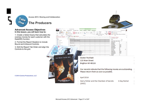 Microsoft Access 2013 Advanced: The Producers
