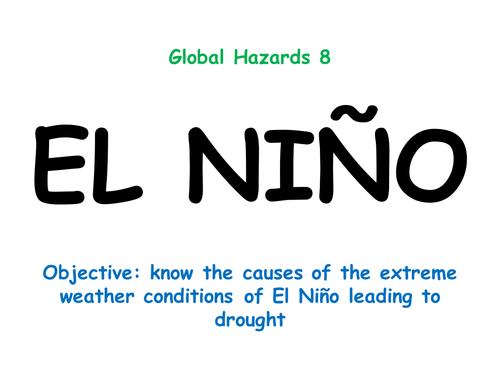 """Hazards 8: """"EL NIÑO"""""""