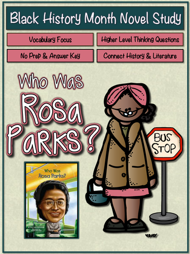 Who was Rosa Parks? (Black History Month Novel Study) by ...