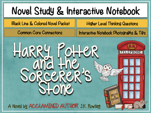 Harry Potter and the Philosopher's Stone Novel Study & Interactive Notebook