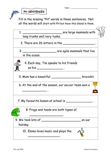 PH Blend worksheets