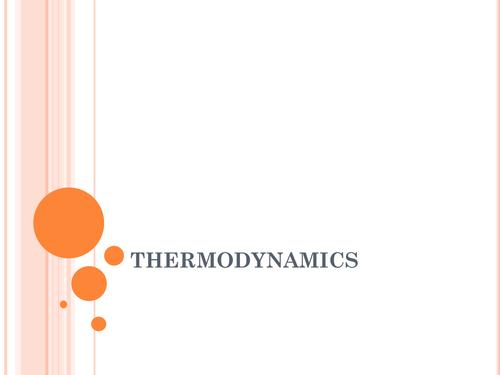 THERMODYNAMICS POWER POINT PRESENTATAION
