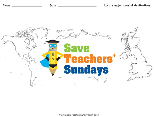 Save teachers sundays teaching resources tes coastal destinations of the uk and the world ks2 lesson plan and other resources gumiabroncs Images