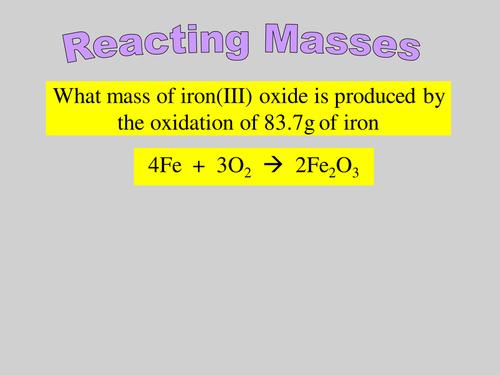 AQA A-level / AS Reacting masses