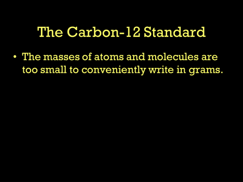 AQA A-level / AS The carbon 12 standard