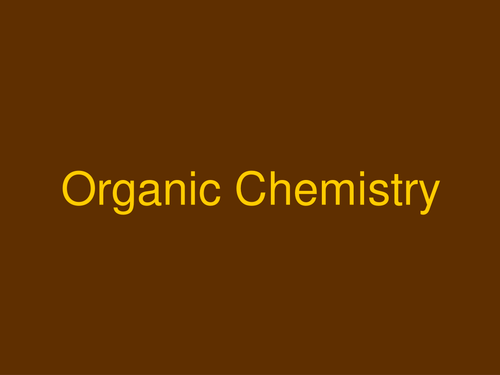 AQA A-level / AS Organic chemistry introduction and alkanes