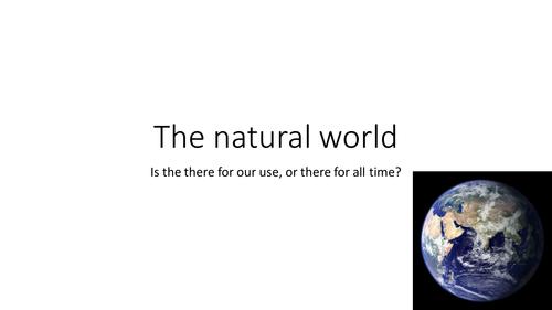 The Natural World - KS3 Lesson - Religious Studies