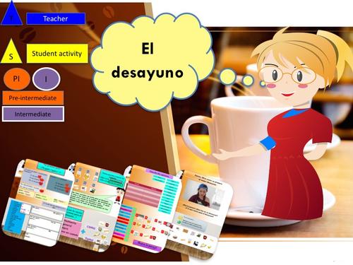 Spanish Breakfast lesson + activities / El desayuno