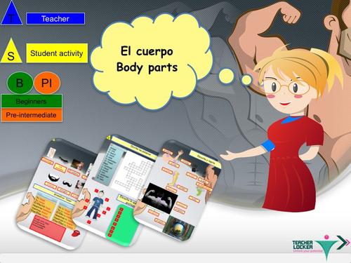 The body in Spanish lesson + activities / El cuerpo