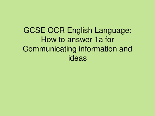 How to achieve perfect marks in the new OCR English Language exam