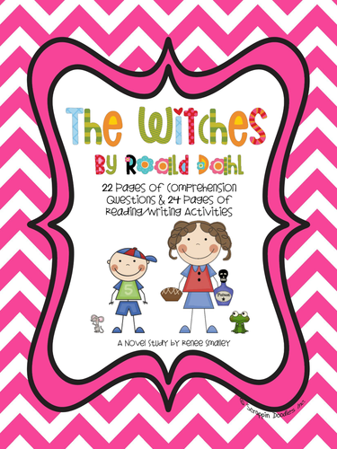 The Witches by Roald Dahl {22 Pages of Questions & 24 Pages of Activities}
