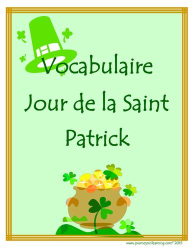 Vocabulaire-Jour de la Saint Patrick
