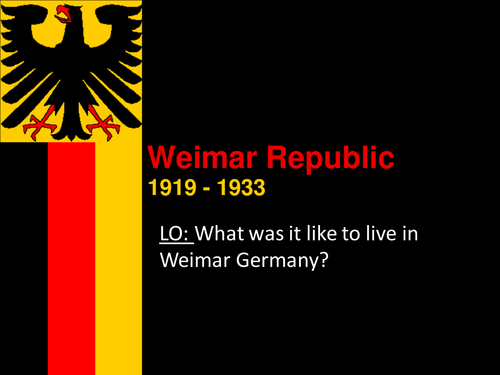 "an analysis of democracy of weimar republic Voluntary associations, therefore, replicated and hardened german society's traditional cleavage lines hence, they could not play the positive, tocquevillian role of ""schools."