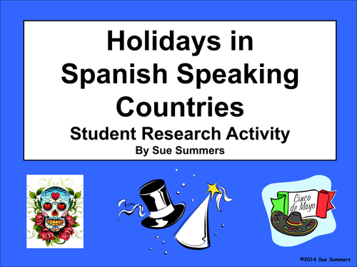 essay spanish speaking country Students are to create a research project and brochure based on a spanish-speaking country 421 downloads country research project & essay subject foreign language.