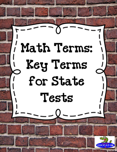 Math Terms: Key Terms for State Tests