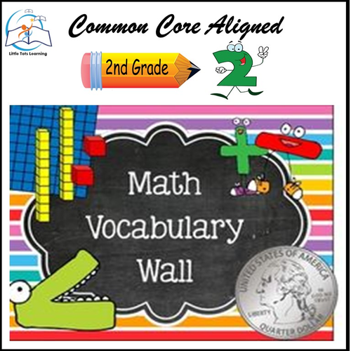 Math Word Wall 2nd Grade  BUNDLE