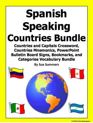 Spanish Speaking Countries Bundle of 5 Items