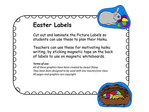 Easter Haiku Story box