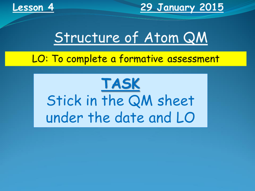 Structure of an Atom Quality Mark Assessment (FULL RESOURCE PACK)